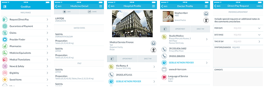 GeoBlue Mobile Phone App is GeoBlue in your pocket